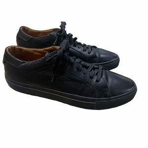 HYDROGEN Black Leather Sneakers made in Italy 11